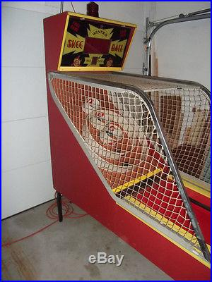 13' Classic Skeeball Machine Red Yellow Skee Ball Alley (located Central PA)