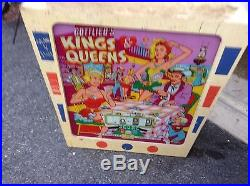 1965 Gottlieb Kings and Queens pinball machine project