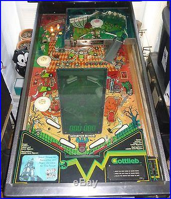 1982 Gottlieb Haunted House 4 Player Pinball Machine Collectible Vintage Classic