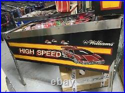 1986 Williams High Speed Pinball Machine Classic Leds Plays Great