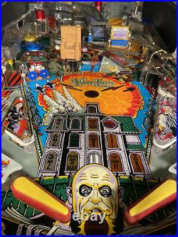 Addams Family Pinball Machine With New Playfield and Full Playfield Restoration
