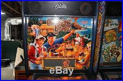 BALLY GILLIGANS ISLAND PINBALL MACHINE PLAYS FINE ALL SHOP OUT
