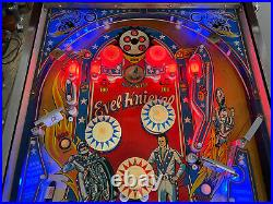 Bally 1977 Evel Knievel Pinball Machine Leds Plays Great Worked On By Pro Techs