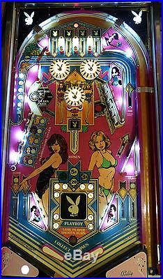 Bally Playboy Pinball Machine Beautiful Clear Coated Playfiled Exc Backglass&Cab
