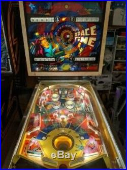 Bally Space Time Pinball Machine, 4-Player (Fully Working, Vintage 1972)