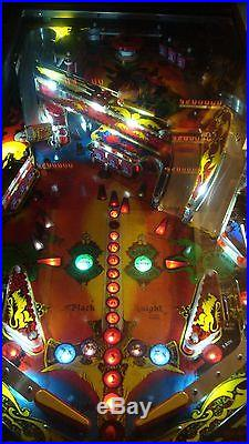 Black Knight pinball machine Williams LEDs! OHIO! Clearcoated playfield