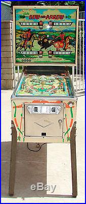 bow and arrow pinball machine for sale