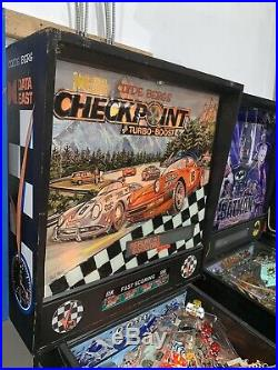 Checkpoint Pinball Machine By Data East Aircooled Porsche VW Clyde Berg