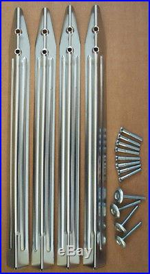 Chrome leg set for Bally Williams Pinball machines with bolts & levellers