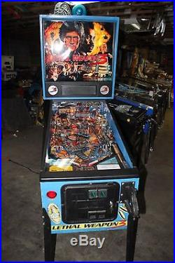 DATA EAST LETHAL WEAPON 3 PINBALL MACHINE PLAYS FINE ALL SHOP OUT WILL SHIP