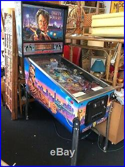 Dirty Harry Pinball Machine WILLIAMS With All Brand New Decals Art Work