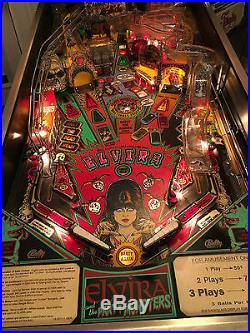 ELVIRA AND THE PARTY MONSTERS PINBALL Arcade Machine Bally Midway