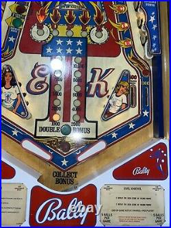Evel Knievel Pinball Machine Coin Op Bally LEDs 1977 Free Shipping