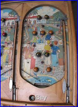 Genco DOUBLE RACE TRACK Pinball Machine Electro-Mechanical Coin Operated on Legs