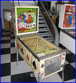 HI-LO ACE PINBALL MACHINE by BALLY SOLD AS PROJECT GAME $199 SHIPPING