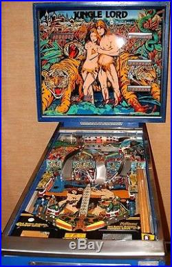 JUNGLE LORD PINBALL MACHINE IN EXCELLENT WORKING CONDITION