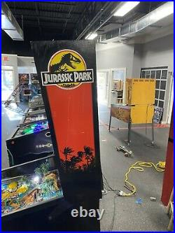 Jurassic Park Pinball Machine Leds Plays Great Worked On By Professional Techs