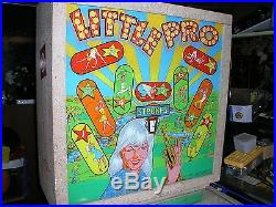 Little Pro Golf Arcade Game in Pinball Type Cabinet by Southland Engineering