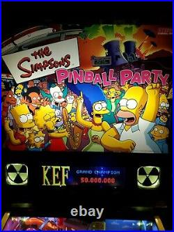 MINT Stern Simpsons Pinball Party Machine LEDs, Color DMD, lighted speakers