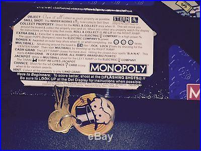 MONOPOLY PINBALL MACHINE COIN OP ARCADE GAME SHIPPING AVAIL LOOK HOME USE ONLY