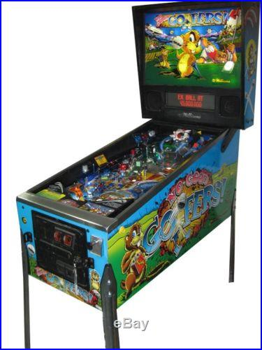 NO GOOD GOFERS PINBALL MACHINE. GREAT GOLF THEME GAME. HOME USE ONLY. MINT