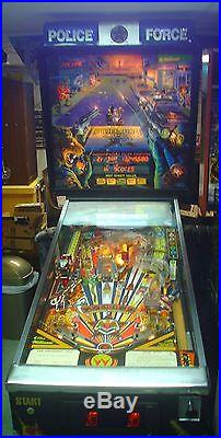 POLICE FORCE PINBALL MACHINE MADE BY WILLIAMS CHEAP