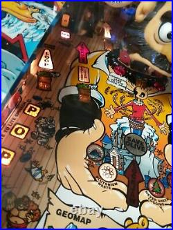Popeye Saves the Earth pinball machine 1994, manufactured by Bally