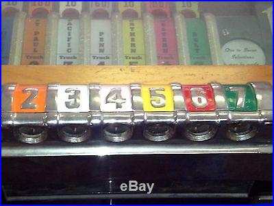 RARE 1936 mills RAILROAD payout pinball Great working shape / first one on Ebay