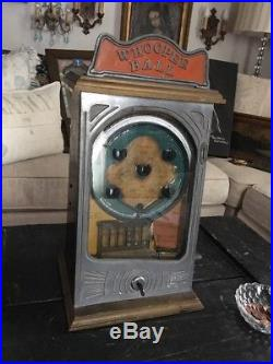 Rare Vintage 1931 Whoopee Ball Table Top Penny Arcade Game Working
