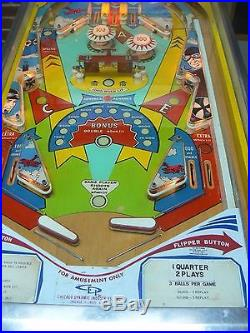 Red Baron Pinball Machine by Chicago Dynamics Mid'70s classic Works Great