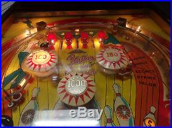 Reduced Strikes & Spares Pinball Machine, Working Great, Fun Game To Play
