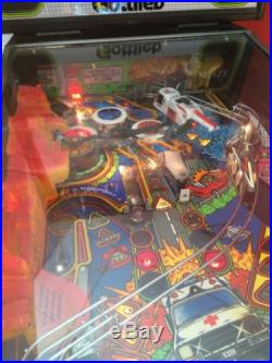 Rescue 911 Rare Gottlieb Pinball Machine Good Condition Flying Helicopter