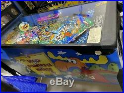Rocky and Bullwinkle and Friends Pinball Machine By Data East LEDs Free Shipping