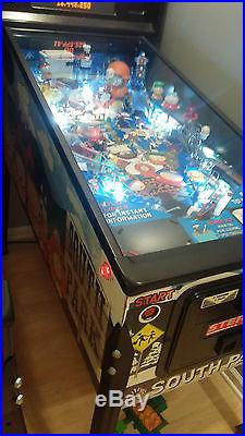 STERN SOUTH PARK PINBALL MACHINE LEDS GOOD CONDITION