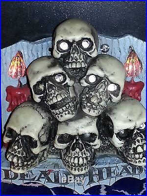 Scared Stiff Pinball Skull Pile Candle Mod individual flickering candles
