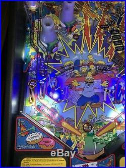 Simpsons Pinball Party Pinball Machine By Stern Coin Op LEDs Free Shipping