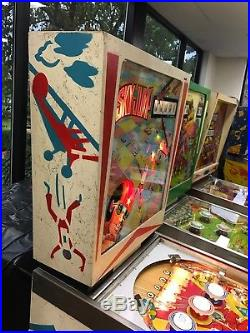 Sky Jump Pinball Machine Gottlieb Single Player Wedgehead, Excell Works 100% Cal