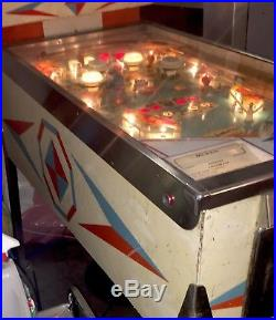 Spin a Card Gottlieb Pinball Machine Rare Vintage Excellent Condition Up Down