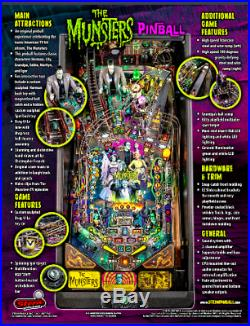 The Munsters Pro Edition Pinball Machine By Stern Pinball New Ready To Ship