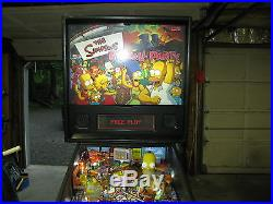 The Simpsons Pinball Party Stern Pinball machine low plays arcade game LEDS
