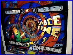 Vintage 1972 Bally SPACE TIME pinball machine arcade game Happy Days EXC Cond