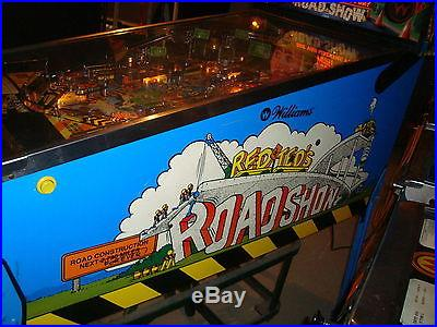 WILLIAMS RED AND TED'S ROAD SHOW PINBALL MACHINE NO RESERVE! NICE