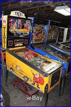 WILLIAMS TAXI PINBALL MACHINE PLAYS FINE ALL SHOP OUT