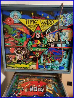 WILLIAMS TIME WARP Pinball Machine PRICE LOWERED TO $975 FOR 10 HOURS ONLY