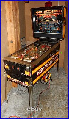 Williams HIGH SPEED Pinball Machine with New Playfield and Parts