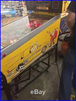 Williams TAXI PINBALL MACHINE, shopped working, Marilyn playfield