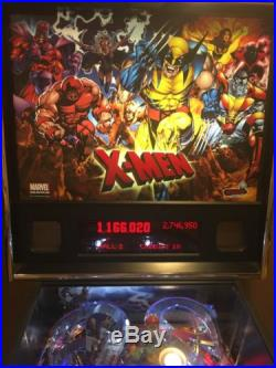 X-MEN Pinball Machine By Stern Very Clean Condition Home Use Only Leds Upgrades